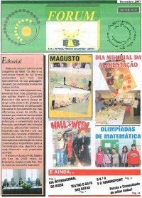 Capa do jornal escolar Fórum
